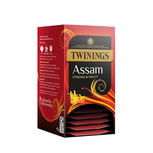 Twinings Assam  Enveloped Tea Bags 20 Envelopes