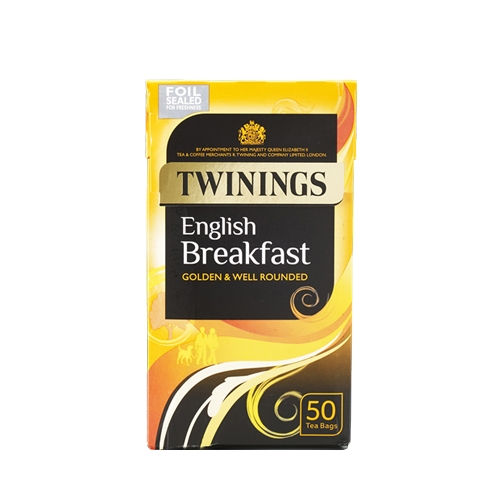 Twinings English Breakfast  Enveloped Tea Bags 50 Envelopes