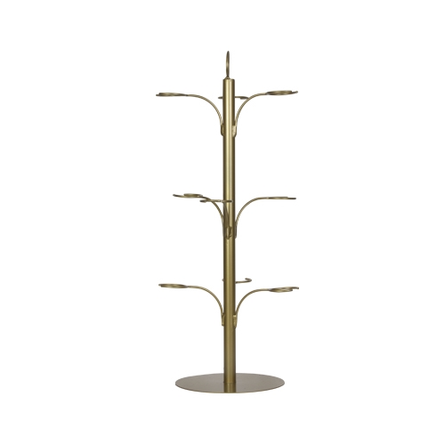 9 Glass Cocktail Tree Gold