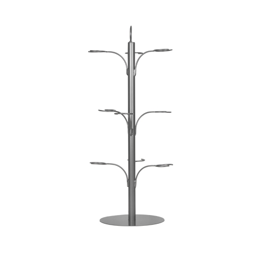9 Glass Cocktail Tree Silver