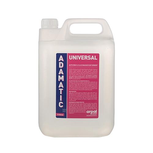 Adamatic Universal Dish & Glasswash Detergent 5Ltr White