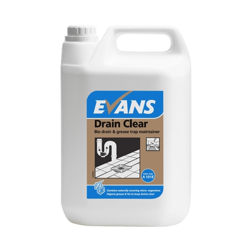 Evans Vanodine Drain Clear - Bio Drain and Grease Trap Maintainer 5Ltr