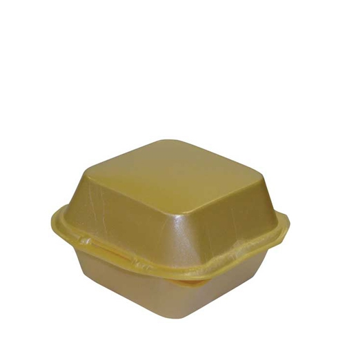 Small Foam Burger Box 120x120x75mm Gold