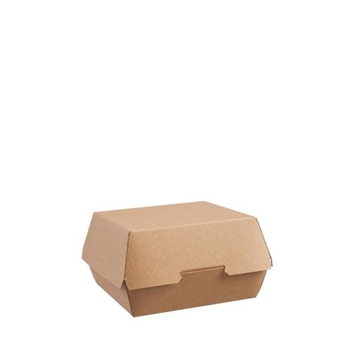 Clamshell Burger Food Box 13.5 x 12.5 x 7.5cm Kraft