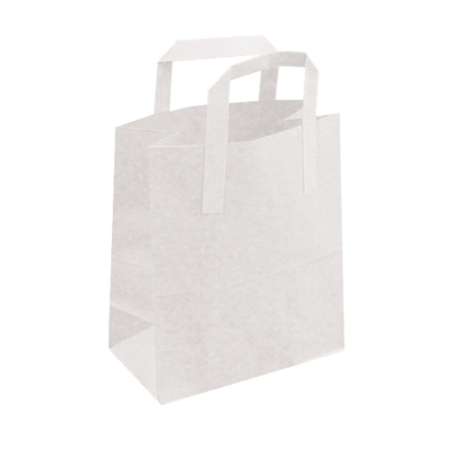 "SOS Paper Handled Carrier 8.5x13x10""  White"