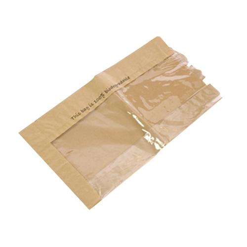 Film Front Biodegradable Baguette Bag 100 x 150 x 350mm