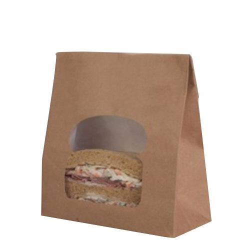 Laminated Sandwich Bag 157 x 73 x 220mm Kraft