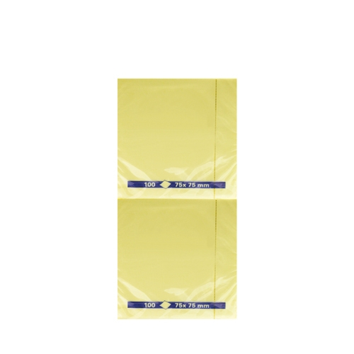 Repositionable Self Stick Note Pad 7.5 x 7.5cm Yellow
