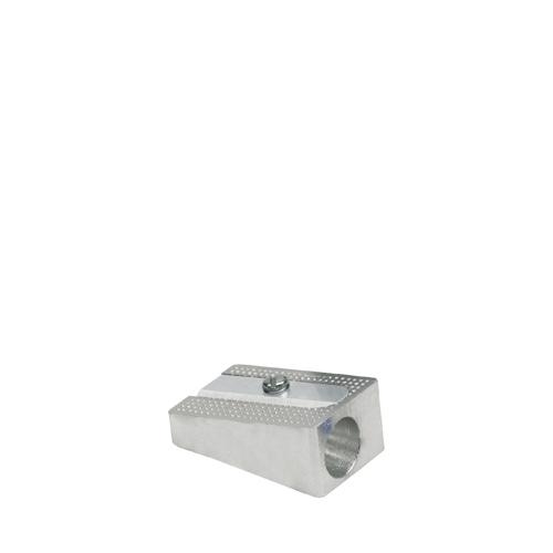Single Hole Metal Pencil Sharpener Standard Silver