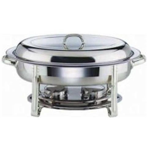 Oval  Chafing Dish 5Ltr Stainless Steel