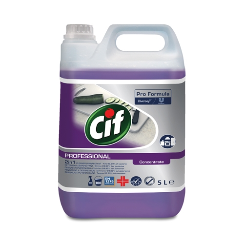 Pro Formula Cif 2 in 1 Cleaner Disinfectant Concentrate 5Ltr