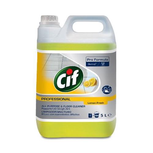 Cif Pro Formula All Purpose Cleaner Lemon 5 Ltr Yellow