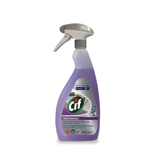 Multi Pack Pro Formula Cif 2 in 1 Disinfectant Cleaner 750ml