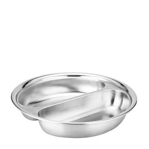 Round Food Pan 2 Division for Chafer Stainless Steel