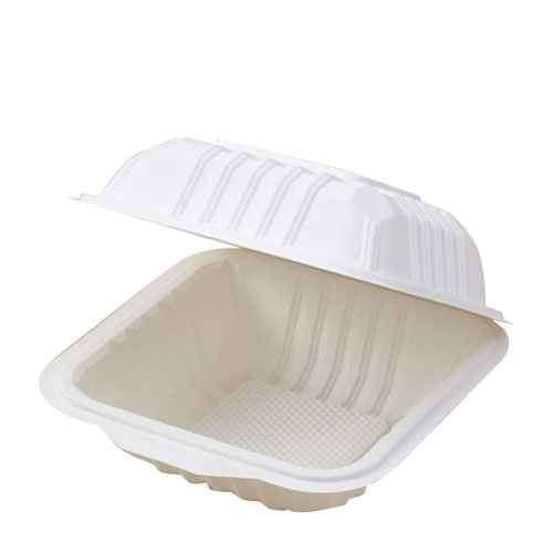 Cornware Biodegradable  Flip Burger Box White