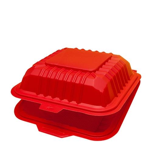 Cornware Biodegradable  Flip Burger Box Red
