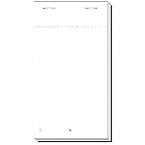 100 x DL Duplicate NCR  *PERSONALISED* Restaurant Bar Order Pads