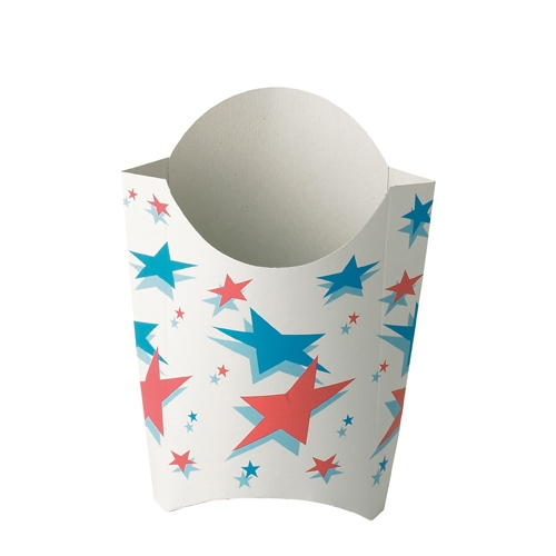 Star Design Chip Scoop Large White, Blue & Red