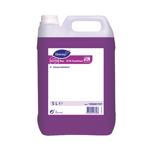 Diversey D10 Suma Bac  All purpose Cleaner Disinfectant 5 Ltr Purple
