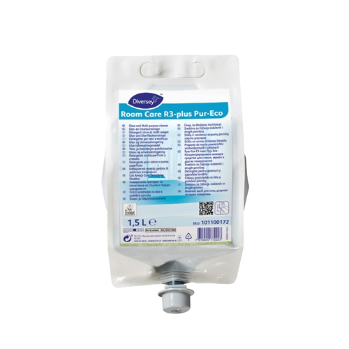 Diversey Room Care R3-Plus Pur-Eco Glass & Multi Surface Cleaner 1.5Ltr White