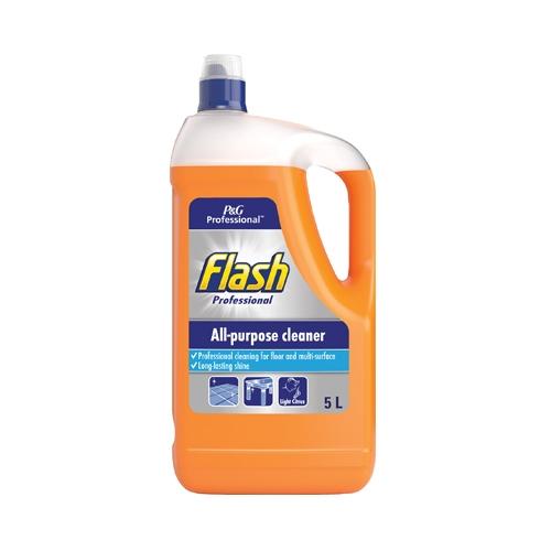 Flash Professional All Purpose Cleaner Light Citrus 5 Ltr Orange