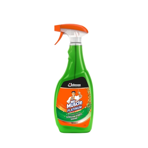 Mr Muscle Multi Pack Platinum Window & Glass Cleaner 750ml Green