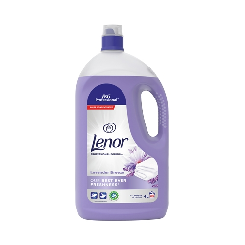 Lenor Lavender Breeze Professional Fabric Conditioner 4Ltr