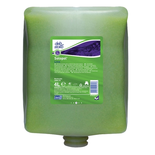 Deb Solopol Lime Medium-Heavy Duty Hand Cleaner 4ltr Green