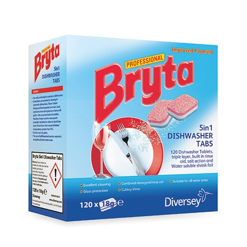 Bryta Professional 5 in 1  Dishwasher Tablets 120 Tabs