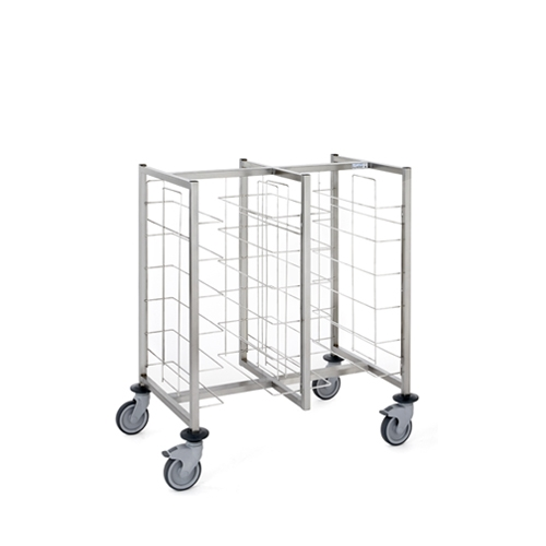 Tournus Self-Service Tray Clearing Trolley  2 x 6 Tiers Stainless Steel