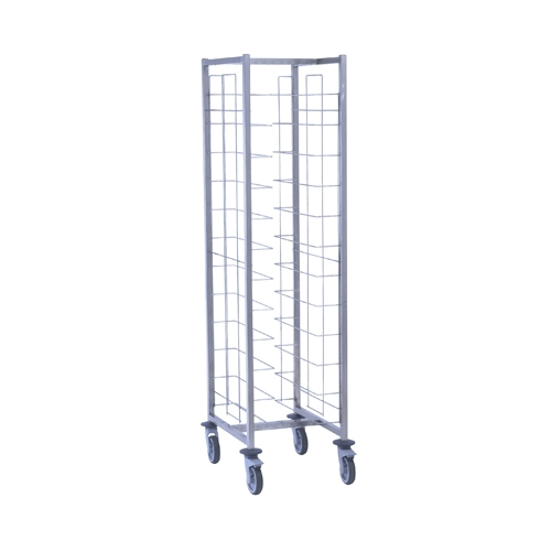 Tournus Self-Service Tray Clearing Trolley  1 x 12 Tier Tray Entry Width Way Stainless Steel