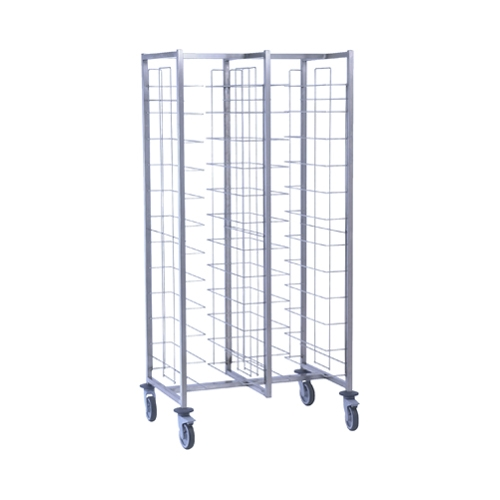 Tournus Self-Service Tray Clearing Trolley  2 x 12 Tier - Tray Entry Width Way Stainless Steel