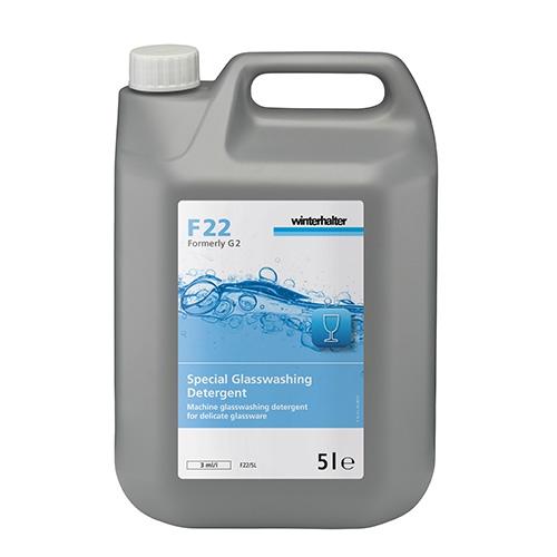 Winterhalter F22 Non Caustic  Glasswash Detergent 5Ltrs