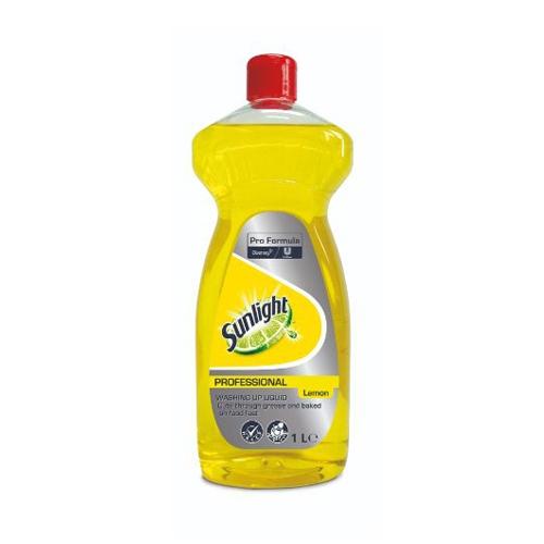 Diversey Pro Formula Sunlight Lemon Liquid Dish Wash 1ltr Yellow