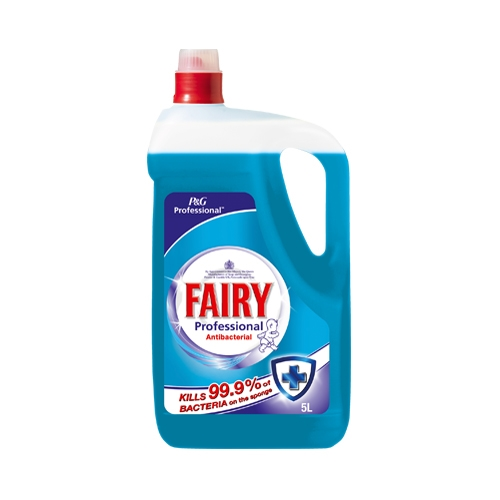 P & G Fairy Professional Washing Up Liquid Anti Bacterial 5 Ltr