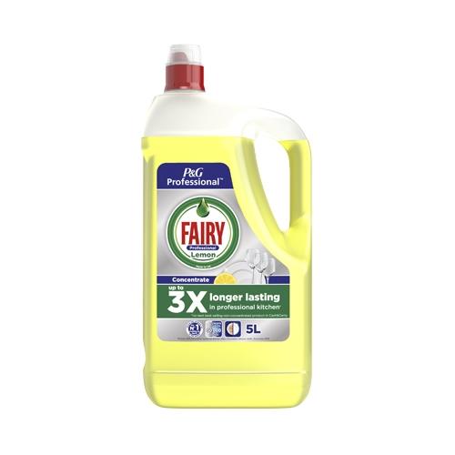 Fairy Professional  Lemon Washing Up Liquid 5 Ltr Yellow