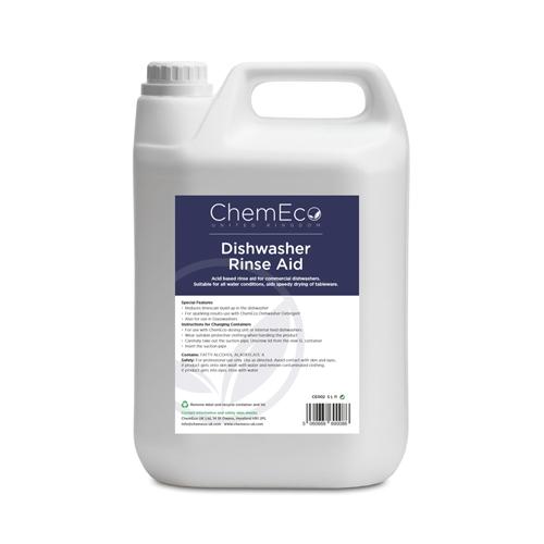 ChemEco Dishwasher Rinse Aid 5Ltr White