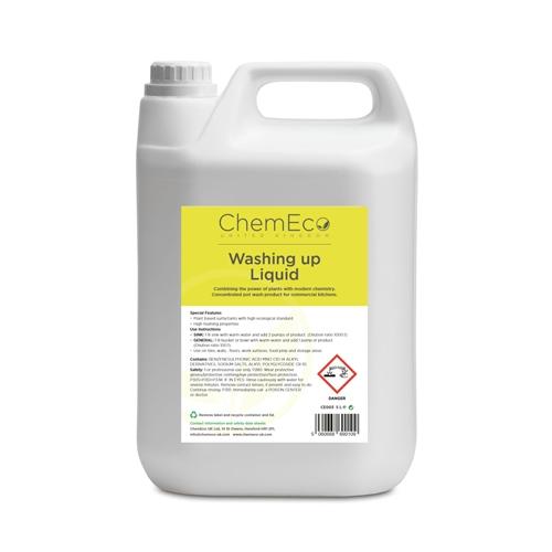 ChemEco Washing Up Liquid 5 Ltr White
