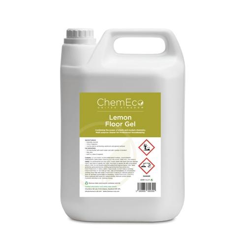 ChemEco Lemon Floor Gel 5 Ltr White