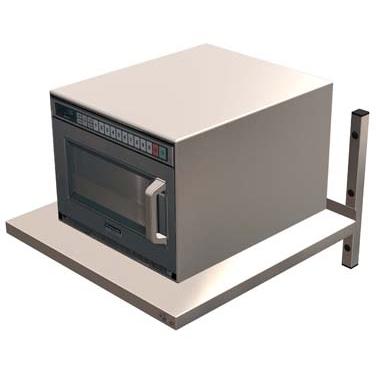 CED Heavy Duty Microwave Shelf 600mm (W) x 600mm (D) Stainless Steel