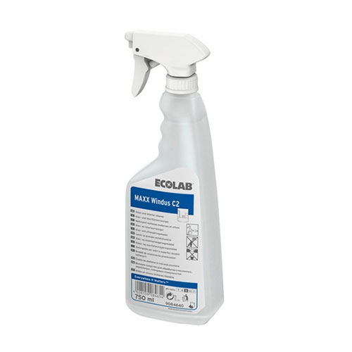 Ecolab Maxx Windus C2 Glass Cleaner 12 x 750ml White