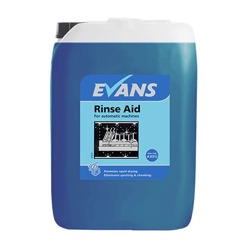 Evans Vanodine Dish Rinse Aid-promotes drying/eliminates spotting 20 Ltr