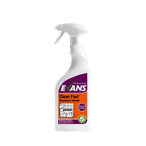 Evans Vanodine Clean Fast Heavy Duty Washroom Cleaner 750ml