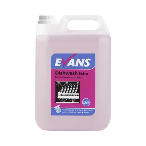 Evans Vanodine Dishwash Extra Concentrated Low Foaming Detergent 5 Ltr