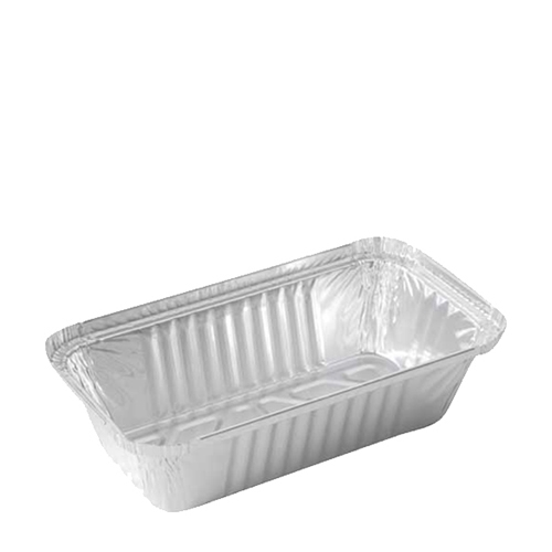 Rectangular Foil Container 218x113x52mm  Silver