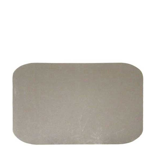 Rectangular Lid for Foil Container 21.8cm x 11.3cm Silver