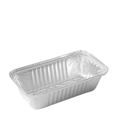 Rectangular  Foil Container 121x96x41mm Silver