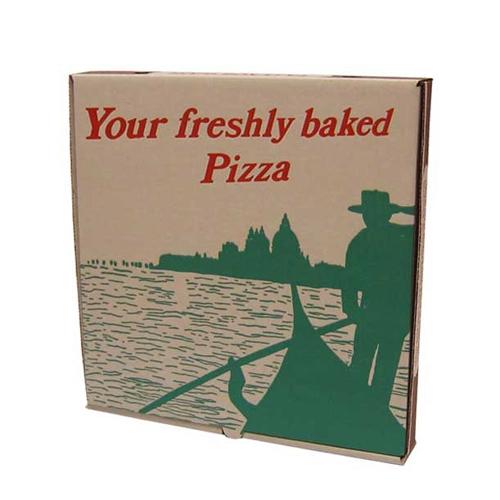 Gondola Design Corrugated Pizza Box 12