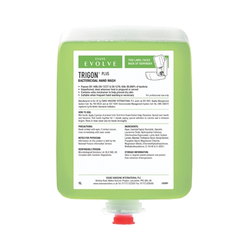 Evans Vanodine Trigon® Plus Hand Wash 1Ltr Green