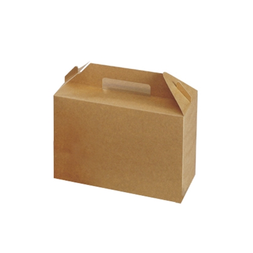 Colpac Biodegradable Large Carry Pack Box Handled 26.5 x 12.8 x 18cm Kraft